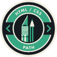 HTML/CSS Path Badge